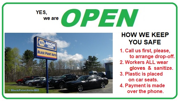 YES - We are OPEN! - Black Point Auto & Towing