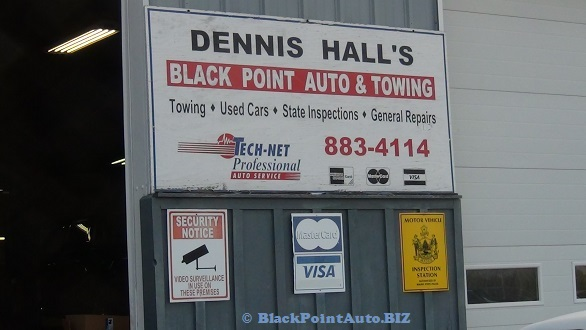Black Point Auto & Towing - ourtide wall sign